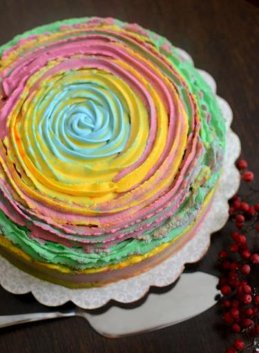 Holi cake...For the Festival of colours