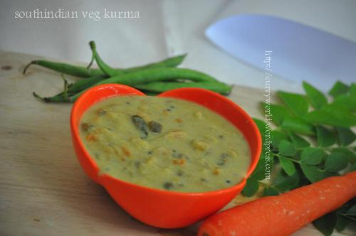 South Indian Style Vegetable Kurma...