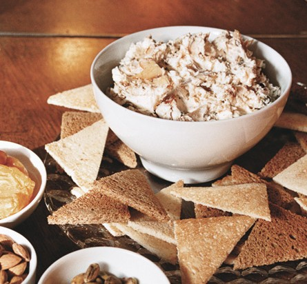Smoked Trout Dip With Toast Points, Nuts, And Dried Fruit