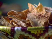 Baked Pumpkin Spice Tortilla Chips