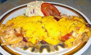 Fast Chicken Enchiladas