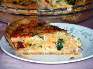 Chorizo, Crabmeat Quiche