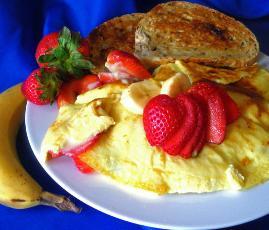 Fresh Strawberry Banana Omelets