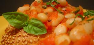Fast And Low Fat Beans And Tomatoes For A Weeknight