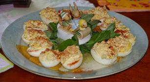 Eggs Stuffed With Crabmeat
