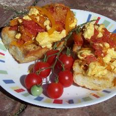 Piperada Sandwich (basque Omelette)