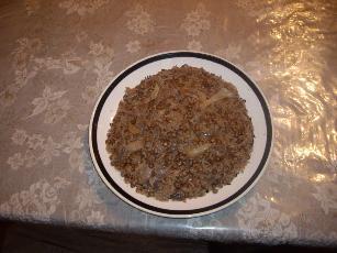 Lentil Rice Dish  (mujadarah Arabic Dish)