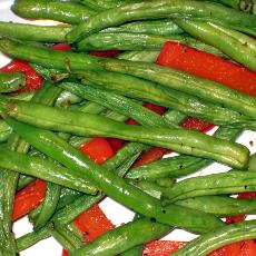 Roasted Green Beans And Red Peppers