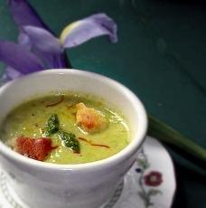 Fresh Cream Of Asparagus Soup From The Farm