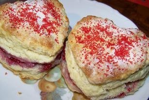 Mimis Valentine Raspberry Scones