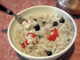 Fruity Porridge (microwave)