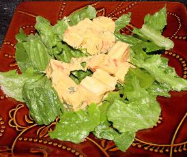 Green Salad With Imitation Crabmeat