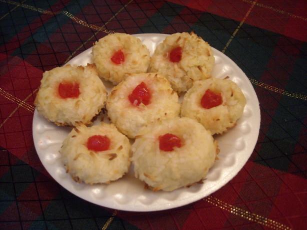 Coconut-cherry Chews