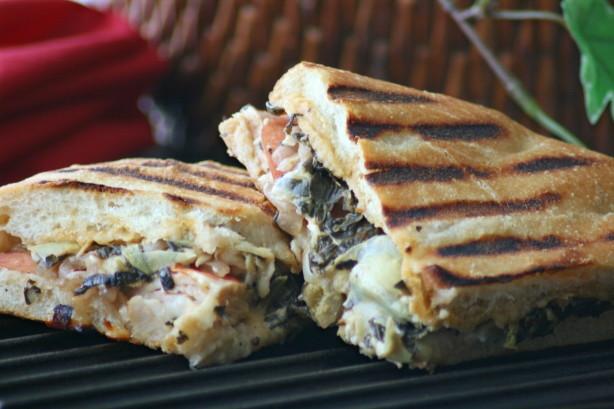Panera Breads Turkey Artichoke Panini