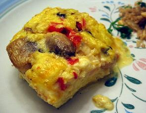 Cheesy Baked Supper Omelets