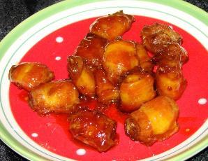 Bacon Water Chestnut Appetizers