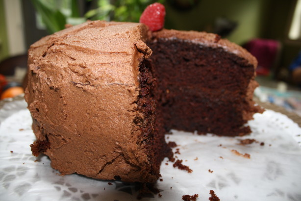 Chocolate Raspberry Mocha Layer Cake