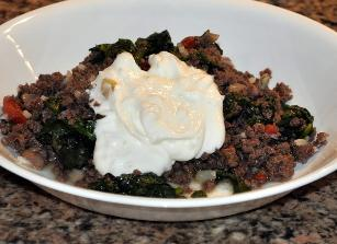Spinach With Ground Beef