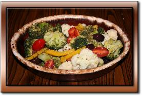 Vegetables Marinated in a Garlic Dressing