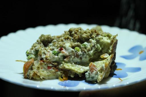 Chicken, egg and mixed veg casserole