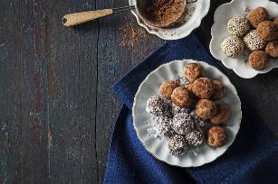 No-cook halva truffles