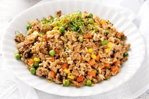 Fast pork fried rice