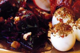 Quail eggs with zaatar