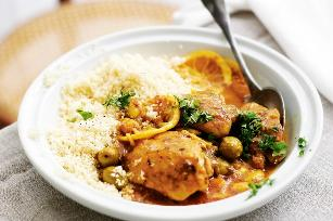 Fast chicken tagine