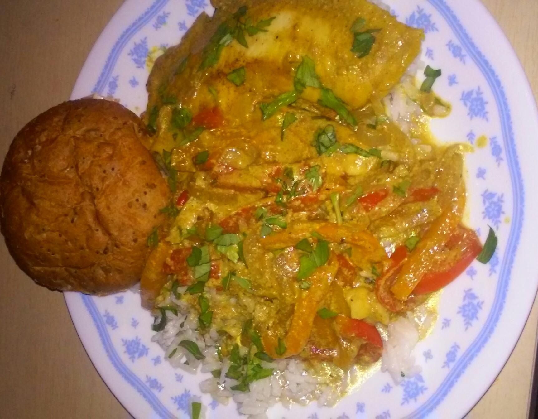 Coconut Curry Talipa Fish