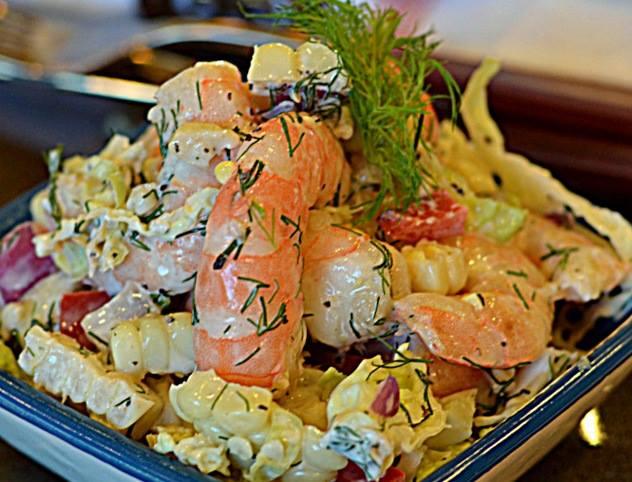 shrimp dill salad