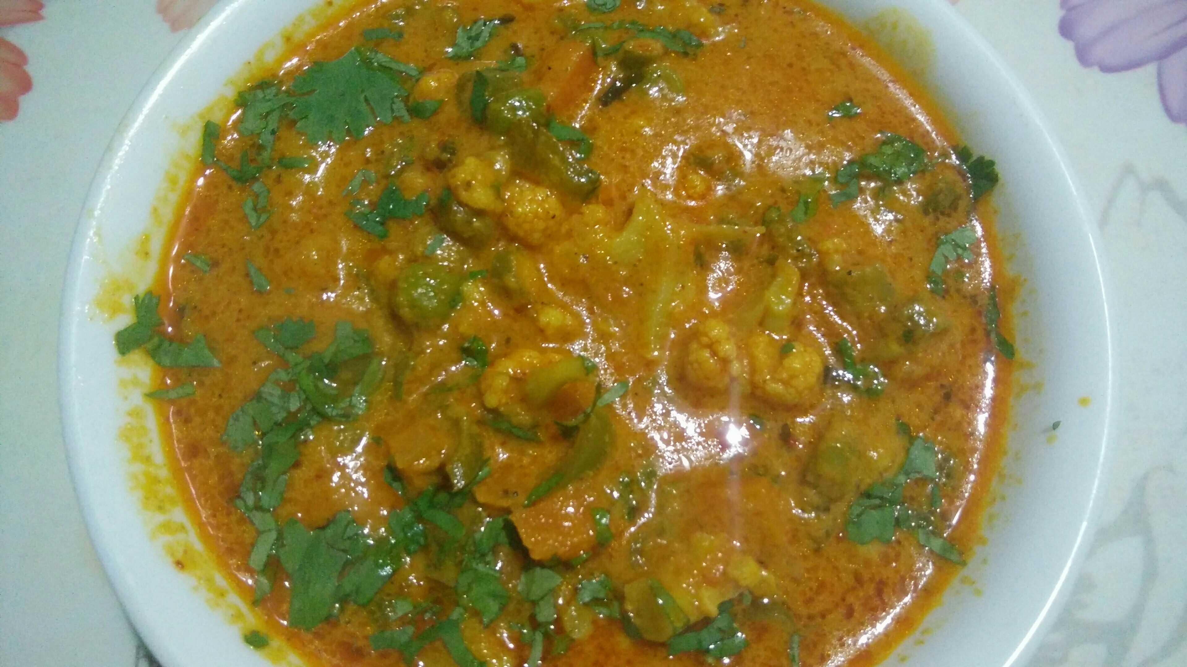 Veg Kolhapuri | Mix veg