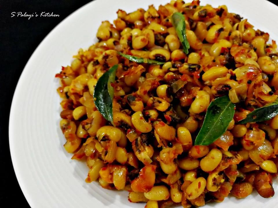 Stir Fried Black-Eyed Beans