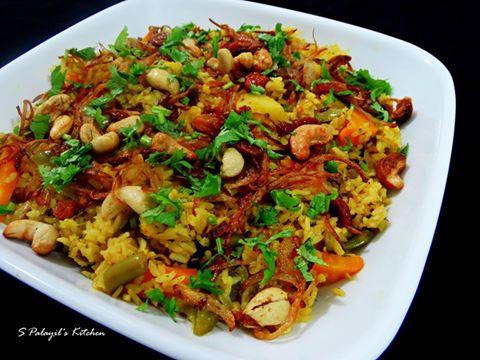 Vegetable Biriyani (Pressure Cooker version)