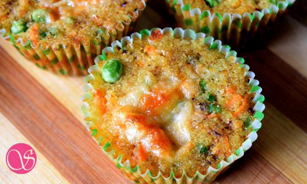 Healthy Savory Semolina Muffin | Vegetarian Savoury Muffins