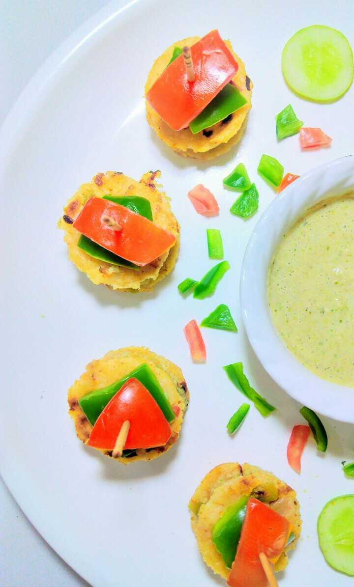 Oats Uttapam Vegetables Sandwich