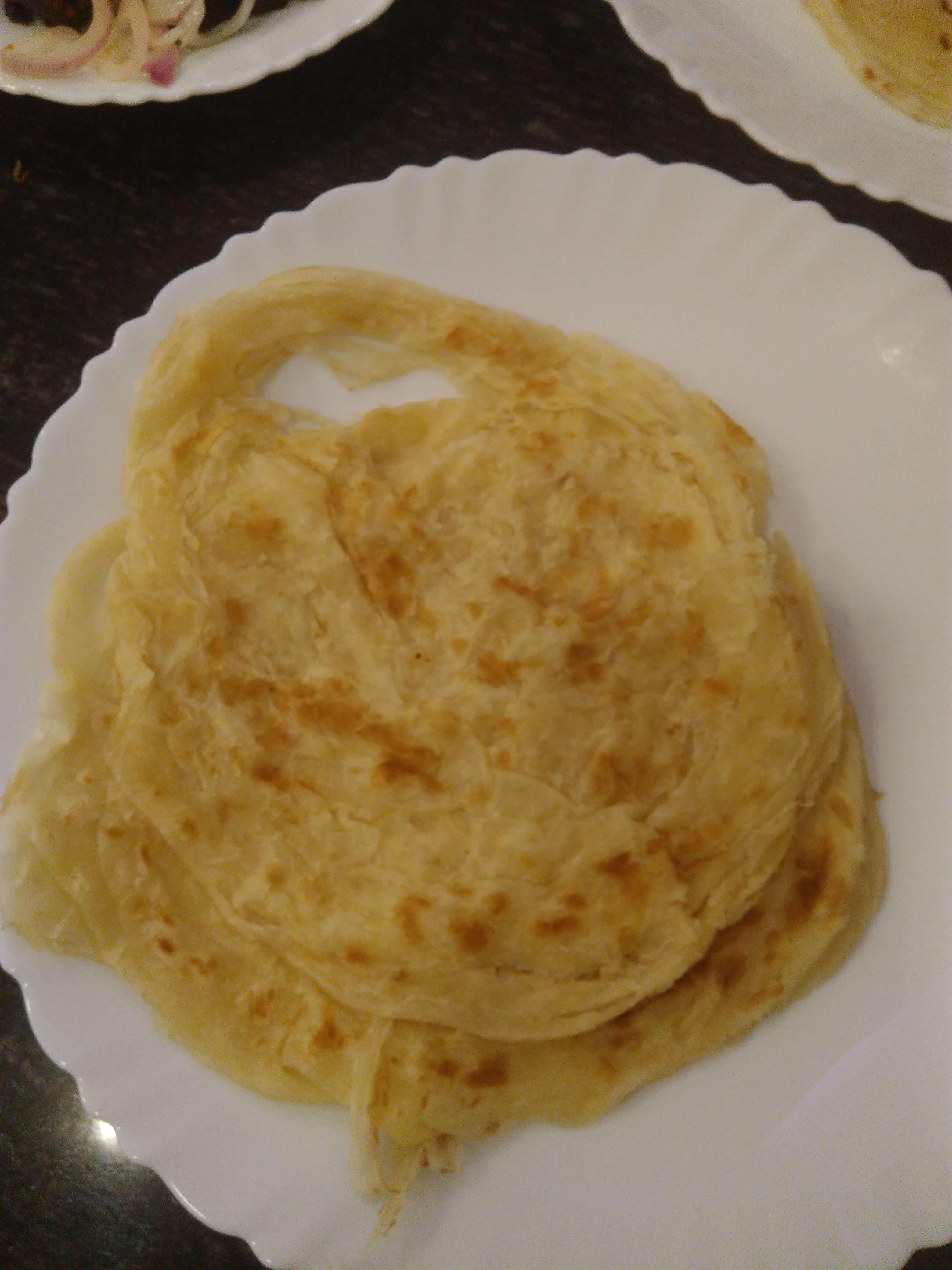 Kerala Eggless porotta