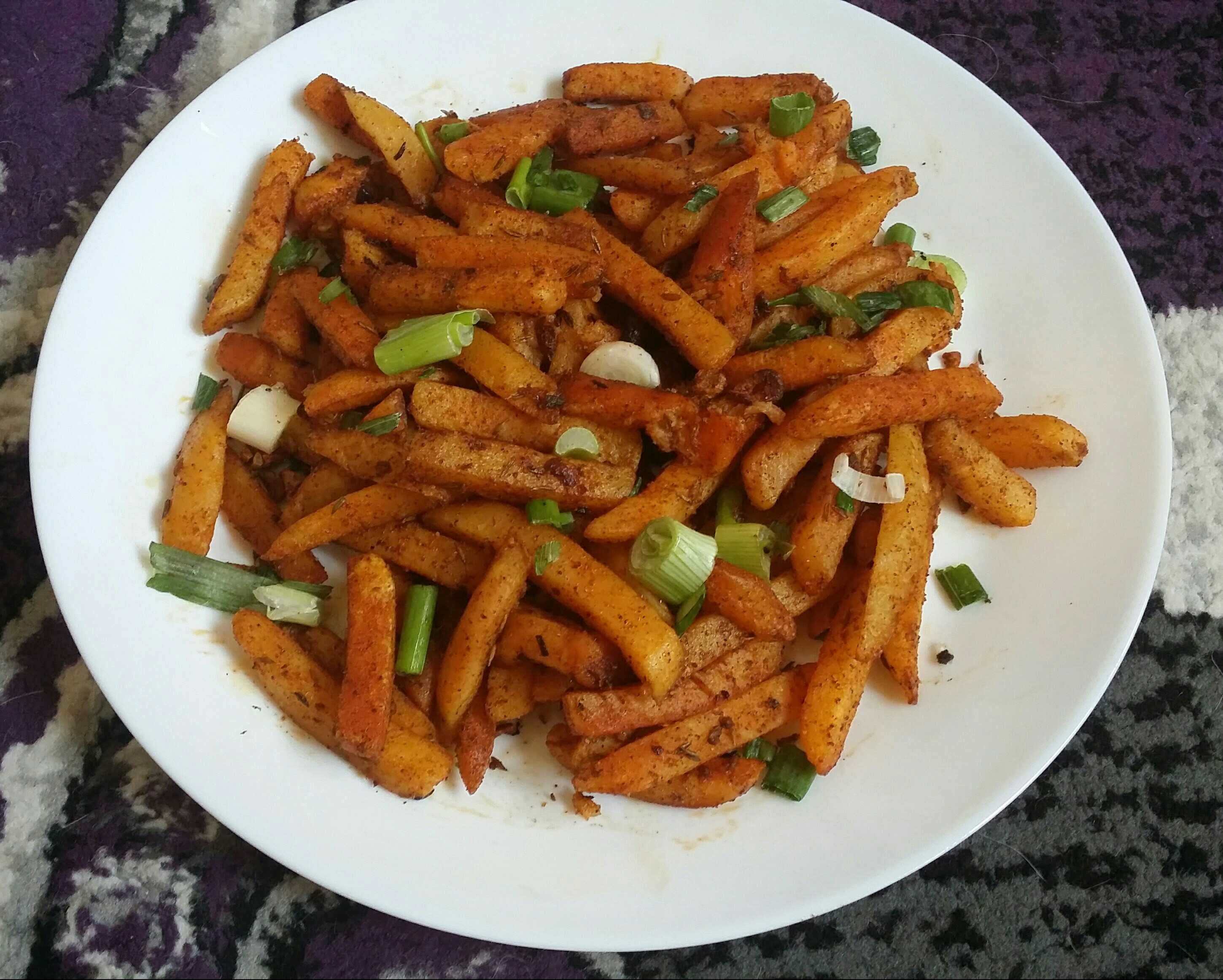 Chilli Garlic Potato Fingers