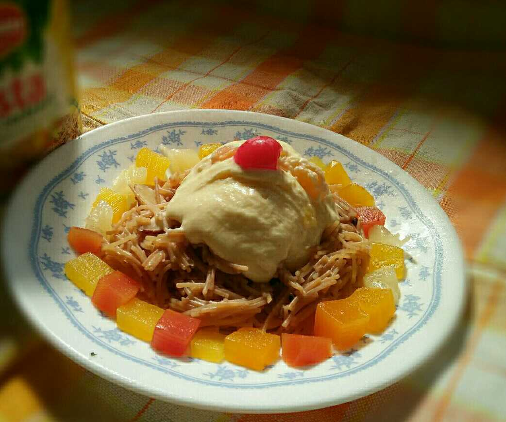 Vermicelli With Mixed Fruit Cottage Cheese Ice-cream