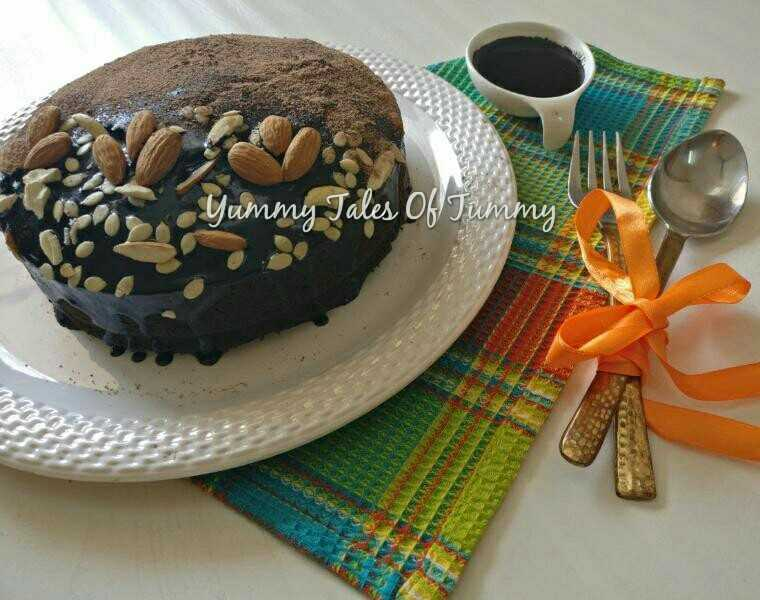 Buckwheat/ Kuttu atta , Chocolate & beetroot cake