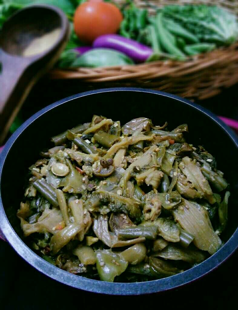 Rosep Aon / Naga Style Mixed Boiled Vegetables