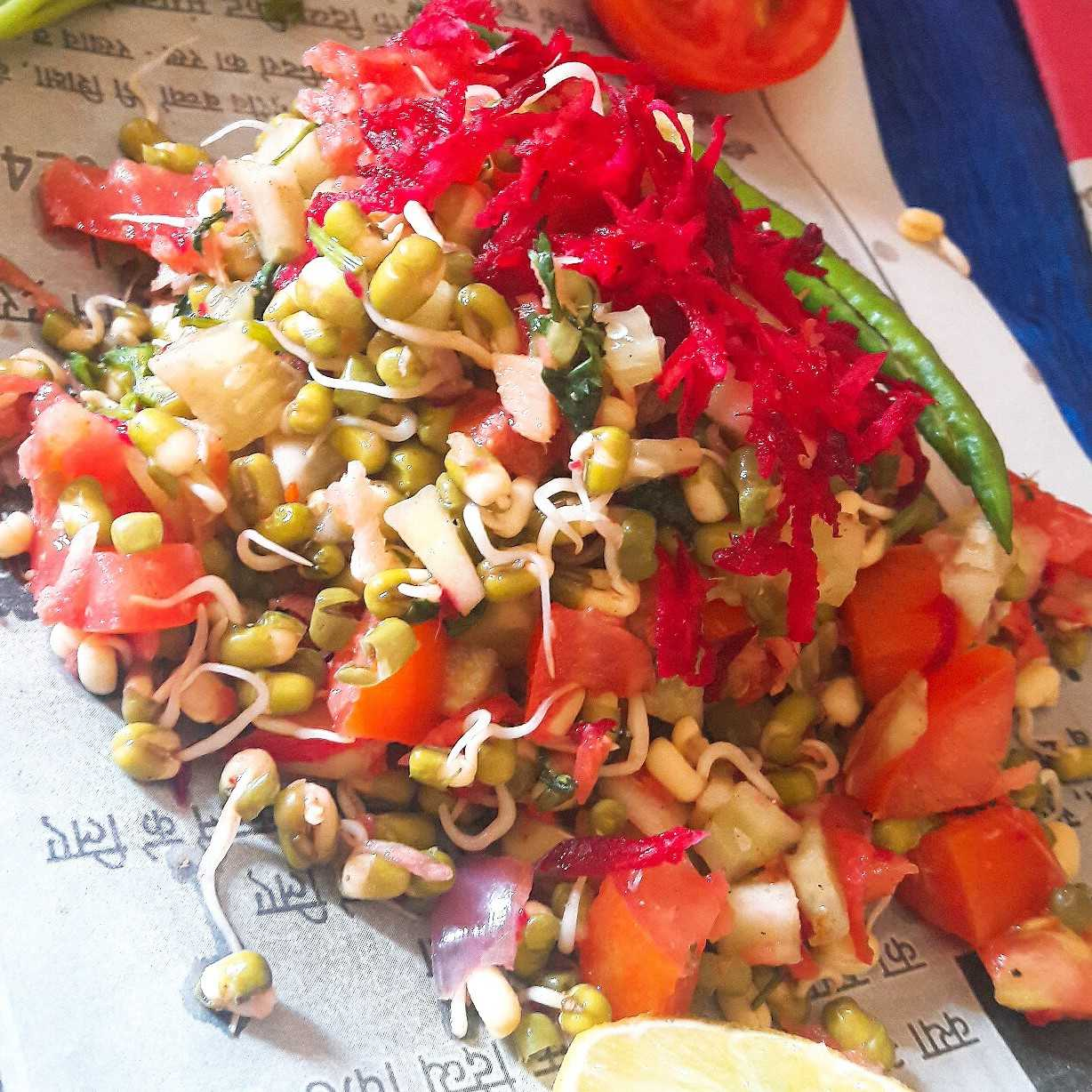 Tangy Tasty Sprout Salad