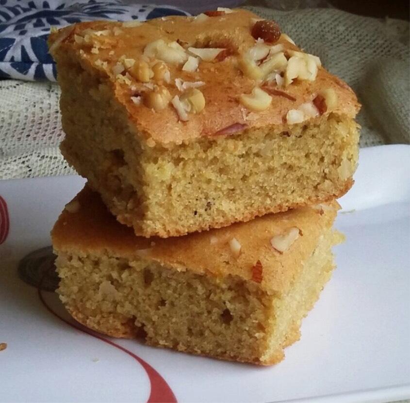 whole wheat paneer cake