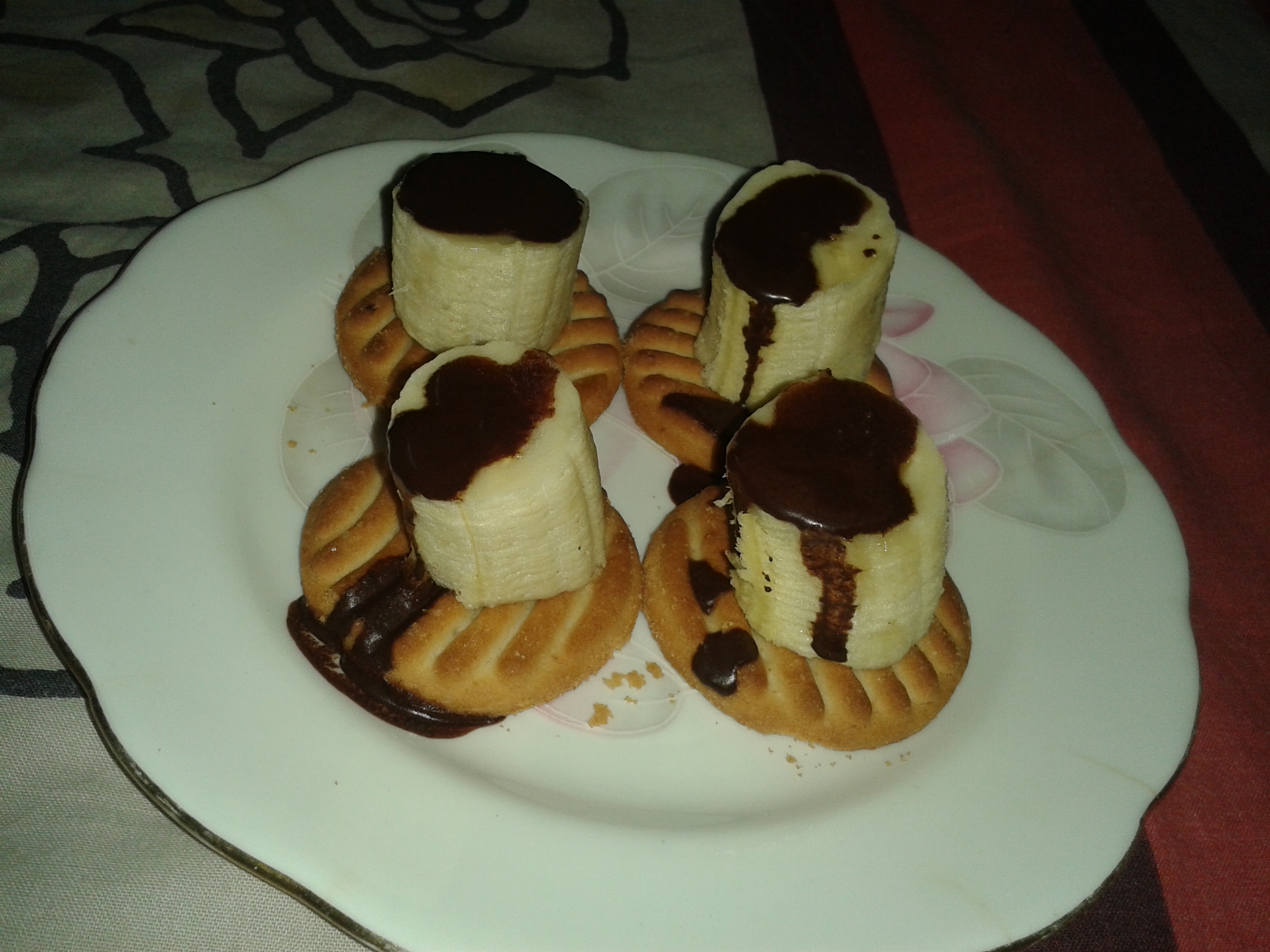 Unibic cookies with banana topping