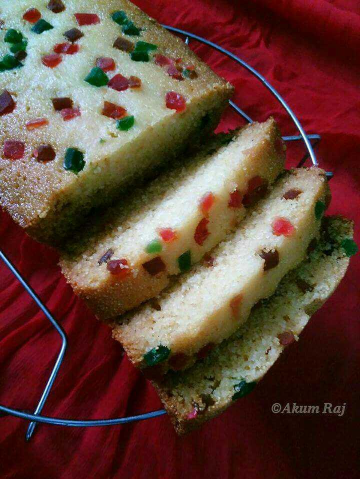 Hot Milk Suji Cake