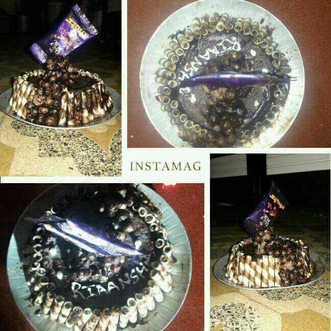 Choco Balls Gravity Cake