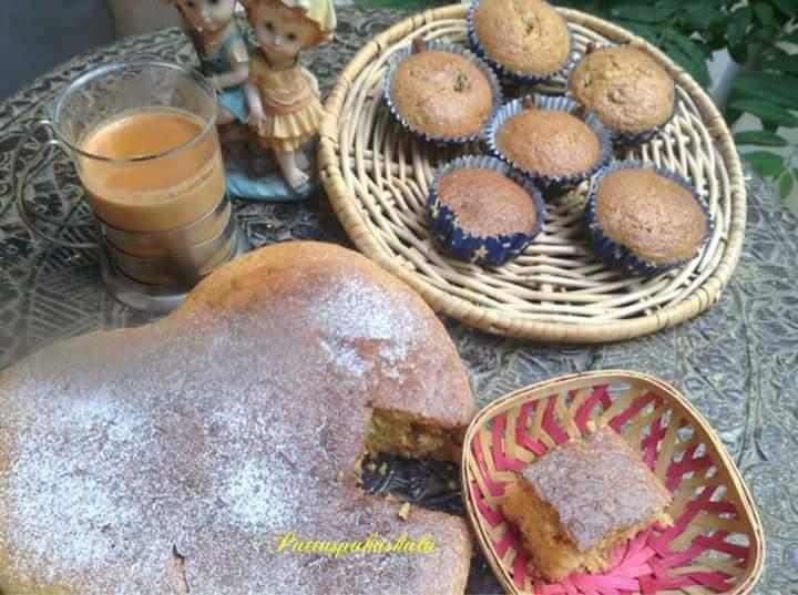 Oats dates jaggery carrots walnut cake