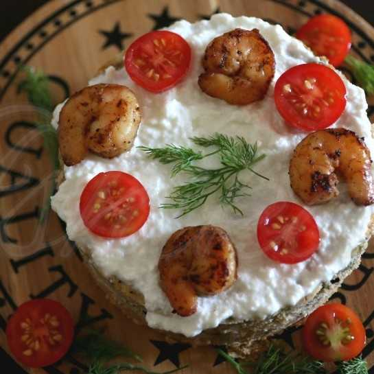 Smoked Shrimp Savory Cheesecake