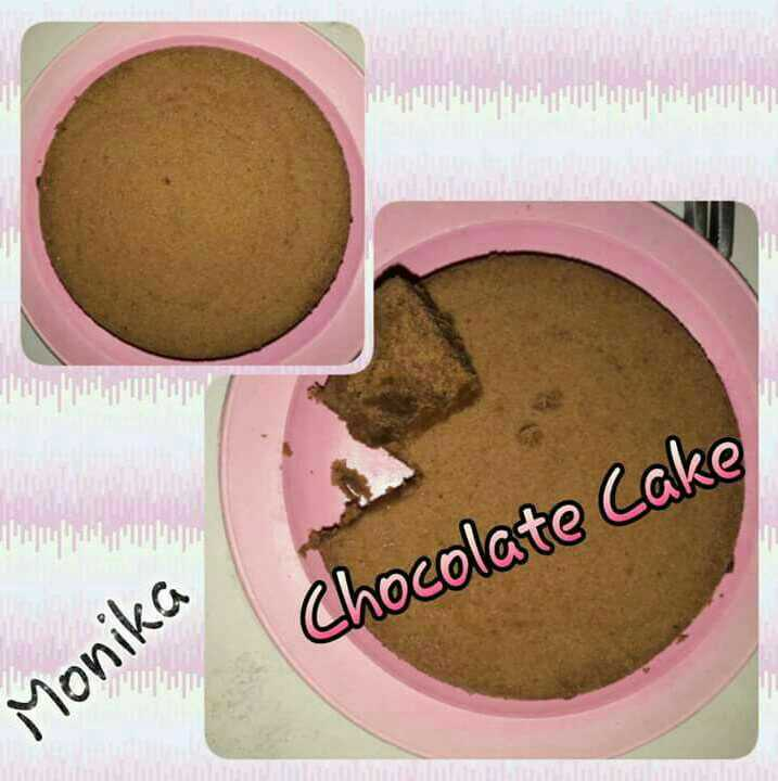 Eggless Chocolate Sponge Cake Using Microwave