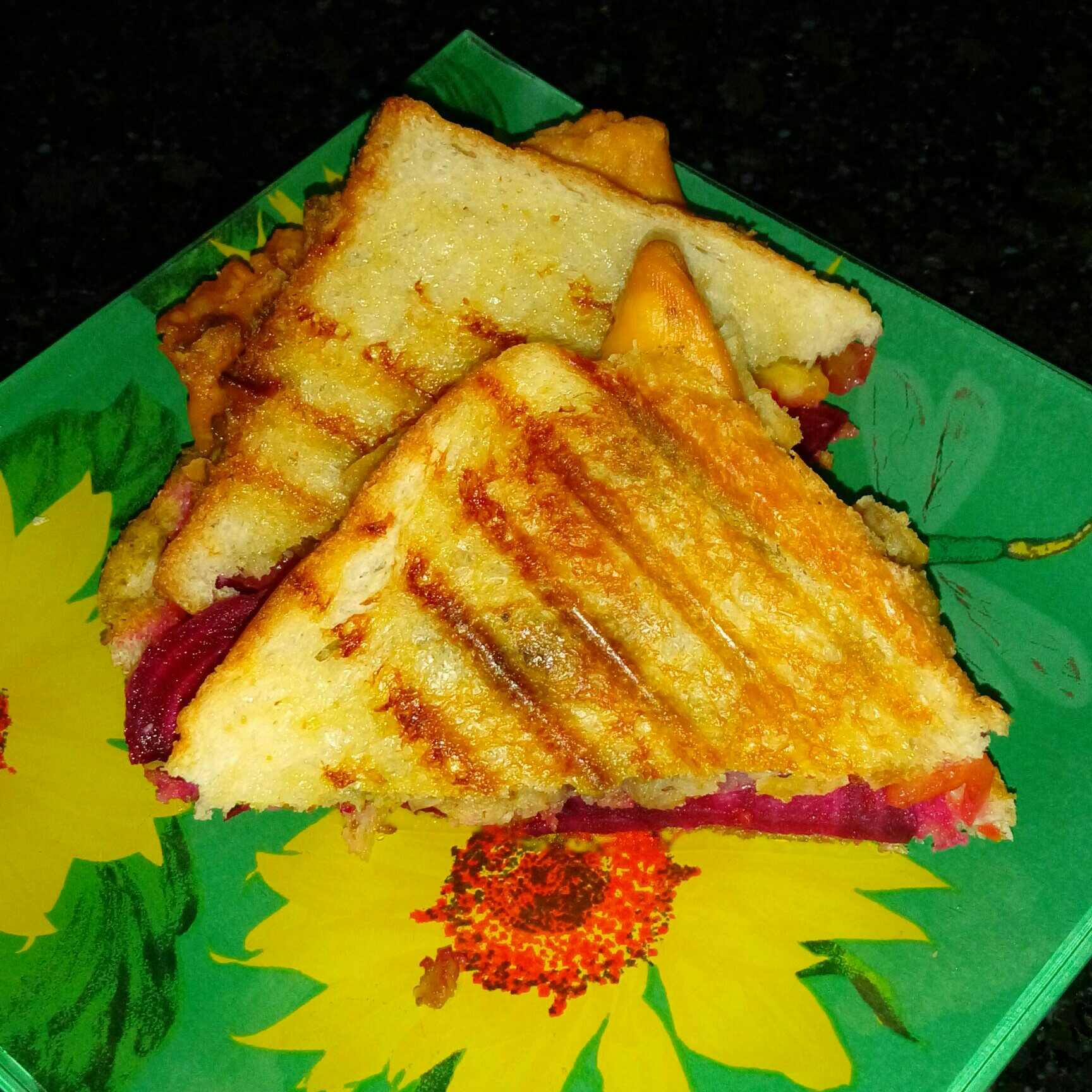 Grilled samosa sandwich