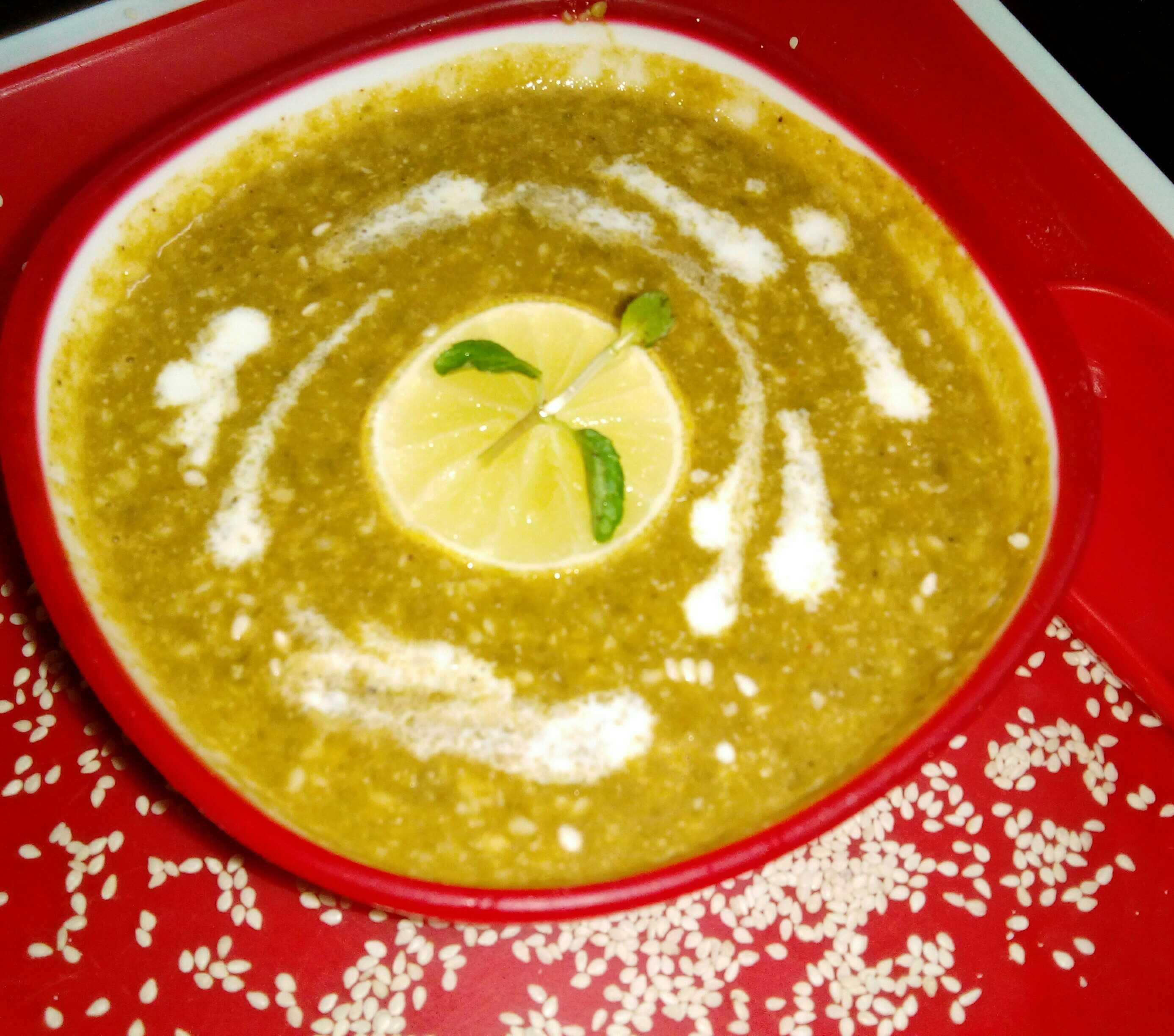 Spinach Sesame (Til) Soup